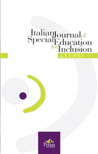 Visualizza V. 1 N. 1 (2013): ITALIAN JOURNAL OF SPECIAL EDUCATION FOR INCLUSION