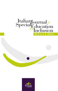 Visualizza V. 2 N. 1 (2014): ITALIAN JOURNAL OF SPECIAL EDUCATION FOR INCLUSION